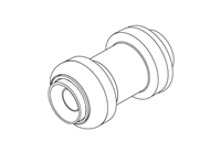 "Push-fit, Coupling, Straight, 1"" x 1"""