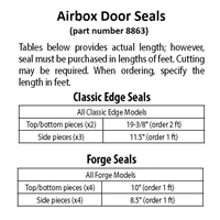 Airbox Door Seal - Classic Edge and Forge Models