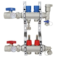 2-branch Brass Radiant Heat Manifold Set
