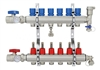 6-branch Brass Radiant Heat Manifold Set