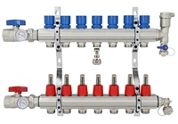7-branch Brass Radiant Heat Manifold Set