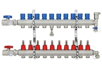 10-branch Brass Radiant Heat Manifold Set
