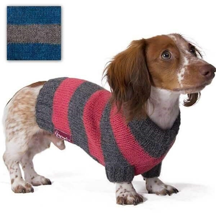 Alpaca Wool Striped Dog Pet Sweater | Turtleneck