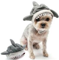 shark hat dog costume