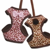 Leopard Print Cat Harness with leash