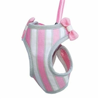 Sweet Pink Small Dog Harness with leash