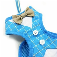 Bow Tie Blue Small Dog Harness