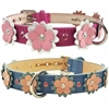 Penelope Flowers Leather Dog Cat Collar