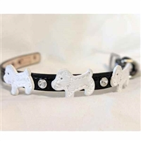 Doggie Style Black Patent Leather Dog Collar