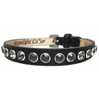 Designer Leather Cat Collars | Black Diamond Bling