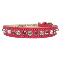 Leather Dog Collars | Pink Bling