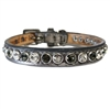 Designer Leather Cat Collars | Silver Pussycat
