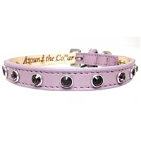 Purple Pussycat Leather Cat Collars