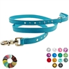 Swarovski Crystal Rhinestone Bling Leather Dog Leash