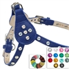 Leather Step-In Dog Harness | Custom Crystal Bling