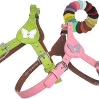Butterfly Leather Dog Harness | Step-in Dog Harness