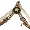 Leopard Print Leather Dog Harness | Step-in