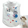 Love Bug Dog Shirt with bow tie