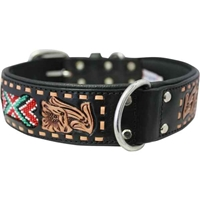 El Paso Western Leather Dog Collar