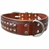 Leather Dog Collar | Western Leather Dog Collar | Wide dog collars
