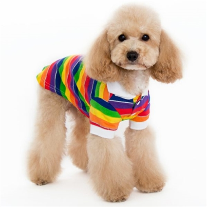 Rainbow Sparkles Dog Polo Shirt