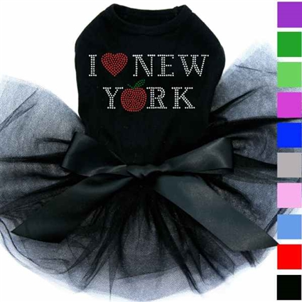 I Love New York Rhinestone Tutu Dog Dress