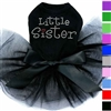 Little Sister Rhinestone Dog Dress