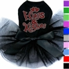 Designer Dog Tutu Dress | Hugs & Kisses