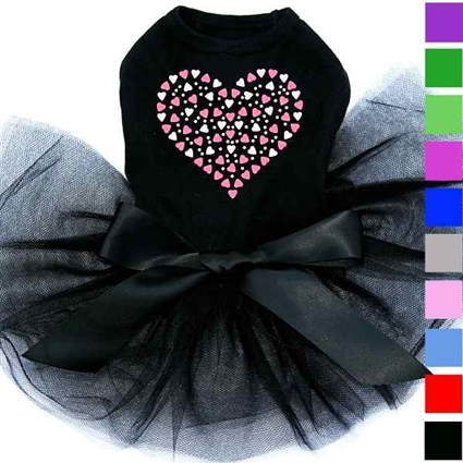 Valentine Dog Tutu Dress | Pink Heart