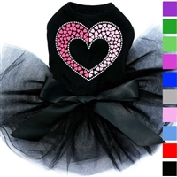 Designer Dog Tutu Dress | Pink Heart