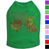 Fall Leaves Rhinestone Dog T-Shirt