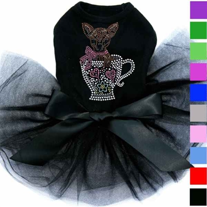 Teacup Chihuahua Rhinestone Dog Dress | Clothes for Chihuahuas
