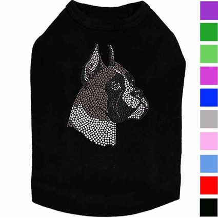 Boxer Rhinestud Dog Shirt