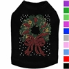 Rhinestone Christmas Wreath Dog Shirt