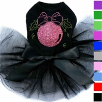 Dog Tutu Dress | Pink Glitter Christmas