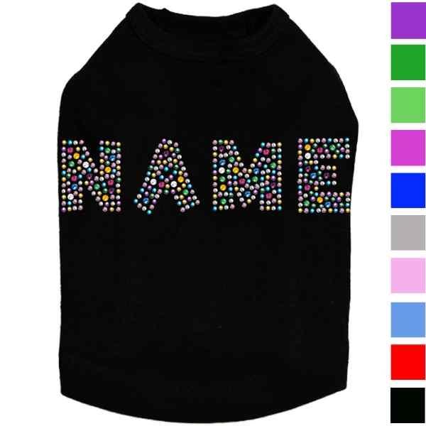 Rhinestone Name Dog Shirt