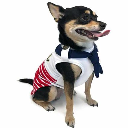 Nautical Scarf Dog Shirt