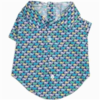 Gingham Whales Dog Shirt