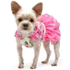 Pink Floral Flounce Summer Dog Dress