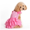 Pink Chevron Designer Dog Dress