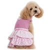 Pink Eyelet Flower Designer Dog Dress