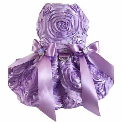 Lavender Rosette Designer Dog Dress