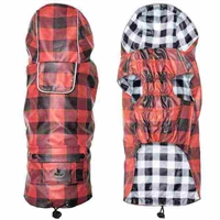 Buffalo Check London Dog Raincoat | Hooded