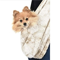 Peluche Plush Snuggle Sling Dog Carrier | Bunny Cream