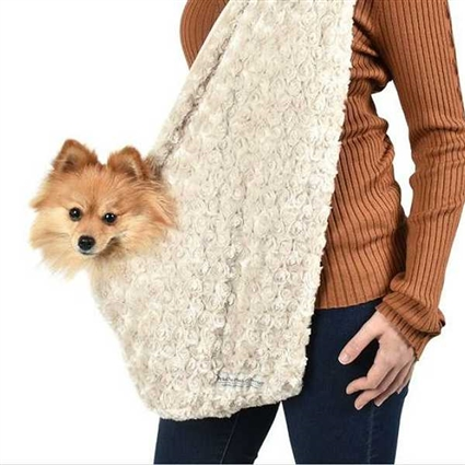 Snuggle Sling Dog Carrier | Rosette | Peluche Plush