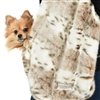 Snuggle Sling Dog Carrier | Siberian Leopard | Peluche Plush
