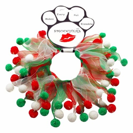 Christmas dog collars | Christmas Fuzzy Wuzzy Smoocher