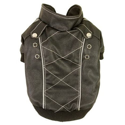 Wuff-Rider Fashion Suede Dog Coat