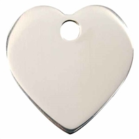 Stainless Steel Heart Pet ID Tags