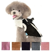 Winter Furry Small Dog Harness Vest
